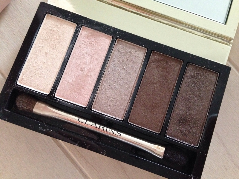Swatch Palette yeux pretty day, Clarins