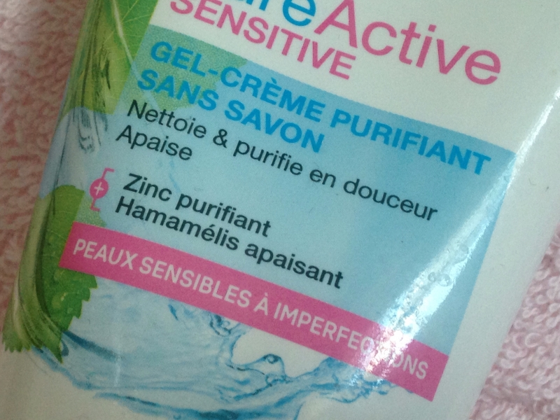 Swatch Gel-Crème Purifiant sans savon Pure active sensitive, Garnier