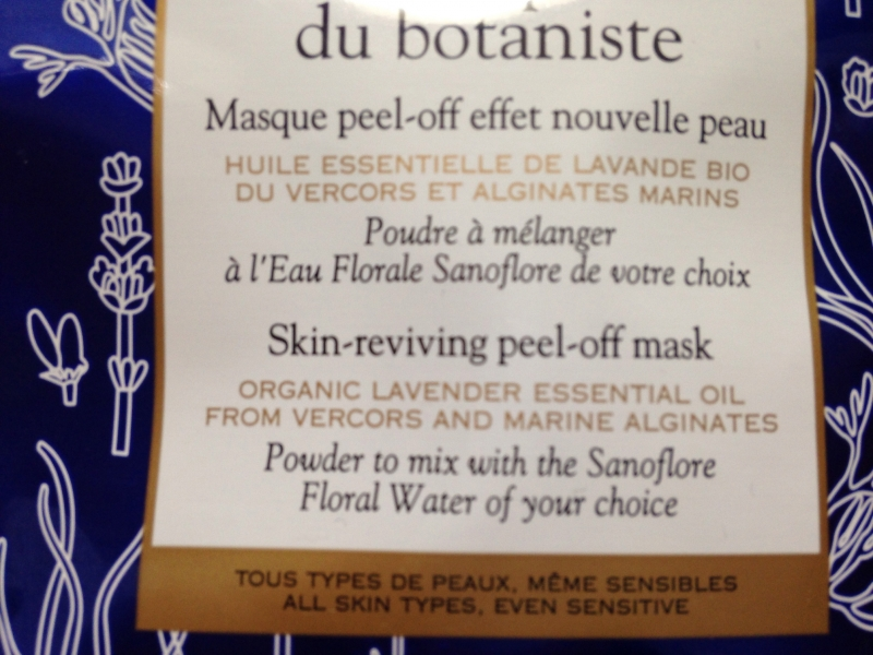 Swatch Masque du Botaniste - Masque peel-off, Sanoflore