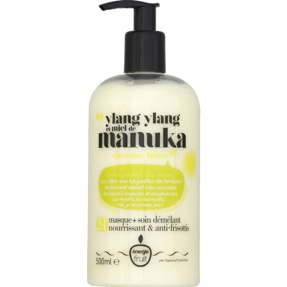 Masque   soin démêlant 2-en-1 ylang ylang et miel de manuka, Energie Fruit - Infos et avis
