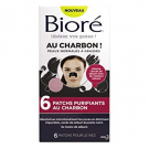 6 patchs purifiants au charbon, Bioré