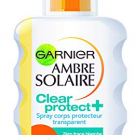 Clear Protect Spray Corps Transparent Ambre Solaire, Garnier - Soin du corps - Solaire corps