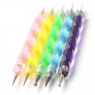 Dotting Tool kit de 5 Doubles Pointes pour les Ongles, UniqStore - Ongles - Accessoires nail art et manucure