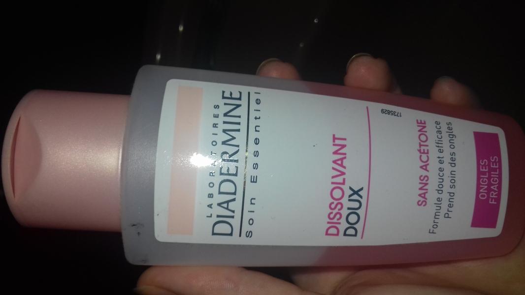 Swatch Dissolvant doux, Diadermine