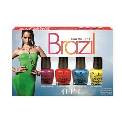 Brazil Beach Sandies Mini Kit, OPI : nadia aime !