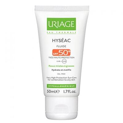 Hyséac fluide solaire SPF 50, Uriage : nadia aime !