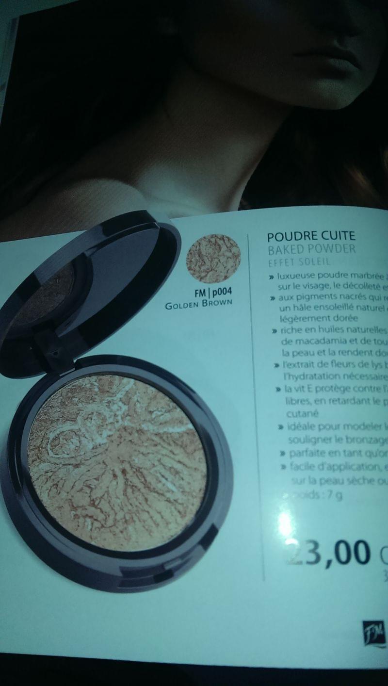 Swatch Poudre Cuite Effet Soleil, FM Make Up