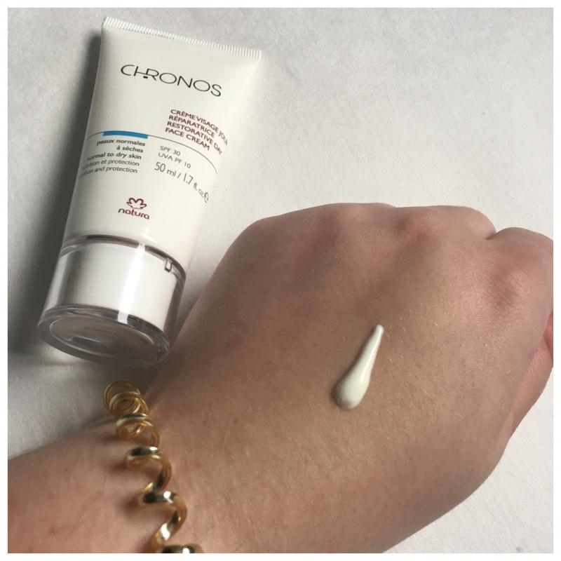 Swatch Chronos - crème visage jour réparatrice, Natura Brasil