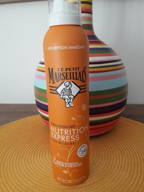 Swatch Spray hydratant nutrition express peaux très sèches huile d'argan& fleur d'oranger, Le Petit Marseillais