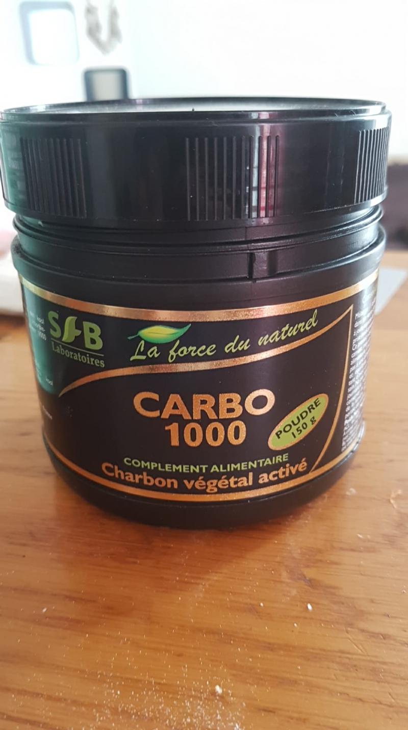 Swatch Charbon végétal activé carbo 1000, SFB Laboratoires