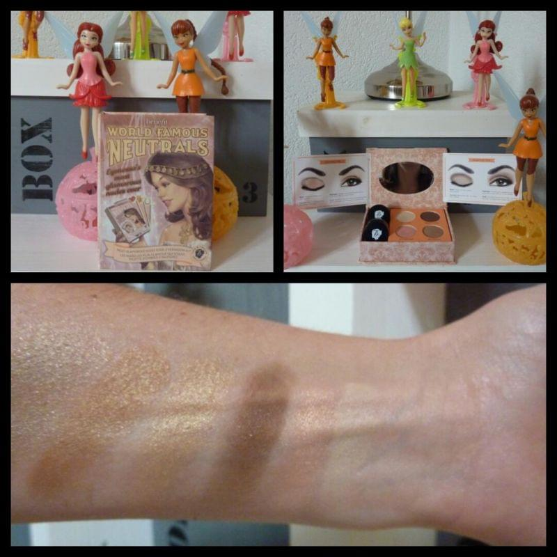 Swatch World Famous Neutrals Eyenessa's most glamourous nudes ever, Benefit Cosmetics