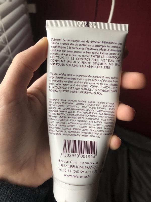 Swatch Masque peeling régénérant, Référence