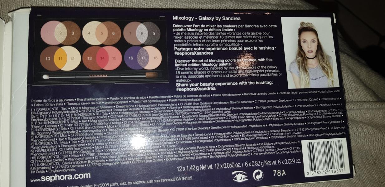 Swatch Mixology galaxy by sandrea, Sephora