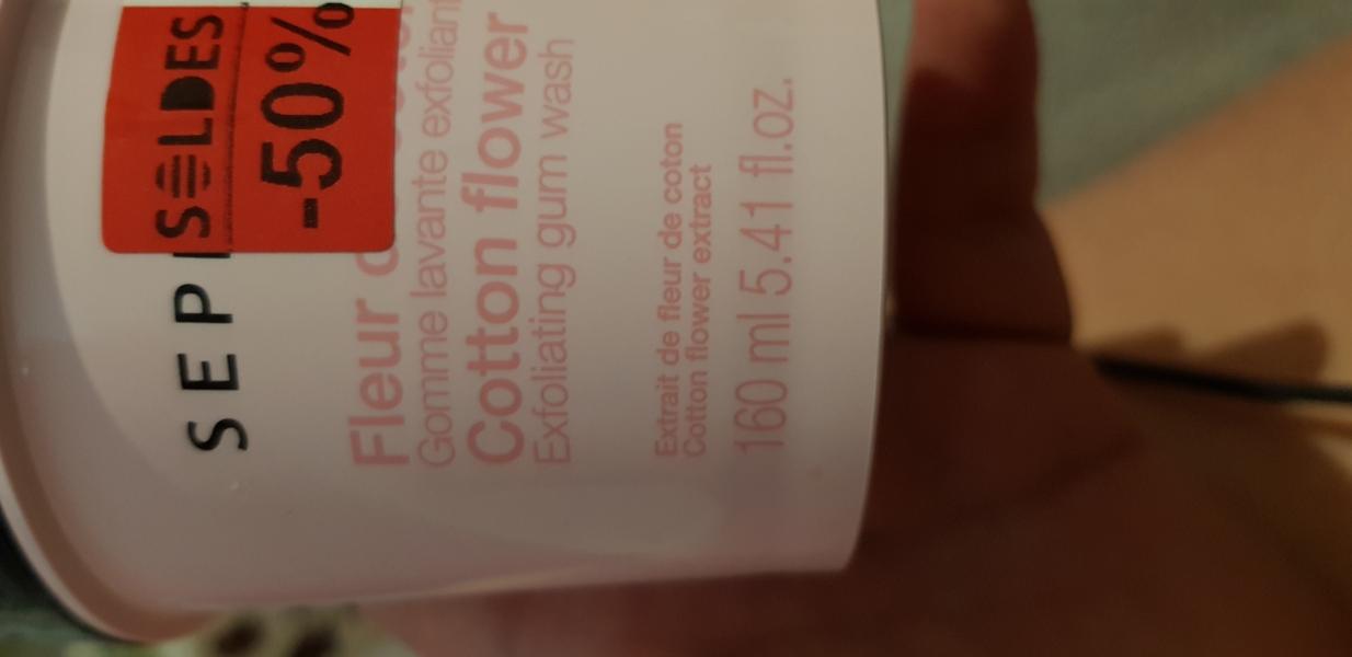 Swatch Gomme lavante exfoliante, Sephora