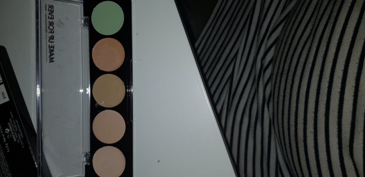 Swatch Palette 5 Crèmes de Camouflage Correcteur, Make Up For Ever