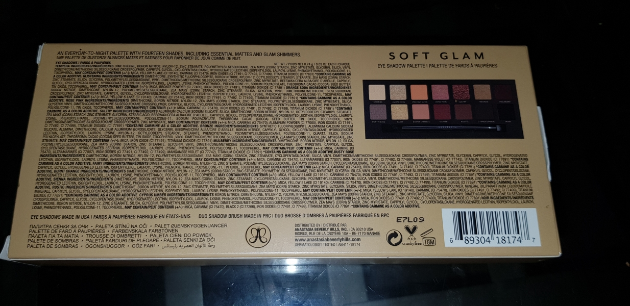 Swatch Soft Glam - Palette de fards à paupières, Anastasia Beverly Hills