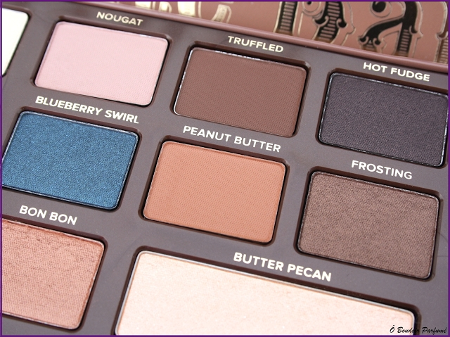 Swatch Semi-Sweet Chocolate Bar - Palette d'ombres à paupières, Too Faced