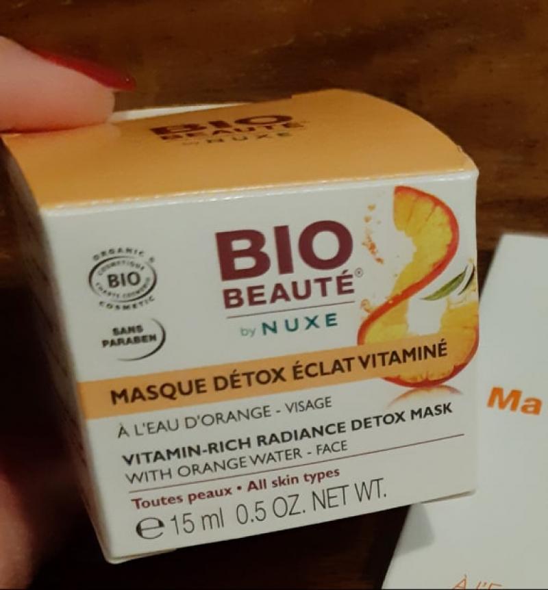 Swatch Masque Détox Vitaminé à l'eau d'orange, Bio Beauté by Nuxe