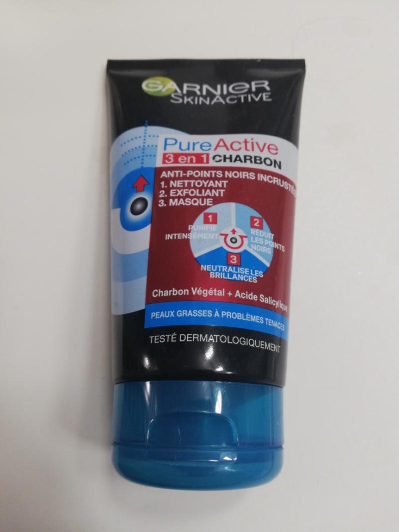 Swatch Pure active 3 en 1 charbon, Garnier SkinActive
