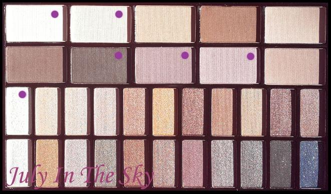 Swatch Palette You're Gorgeous, Makeup Revolution