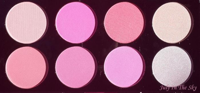 Swatch Ultra Blush Palette, Makeup Revolution