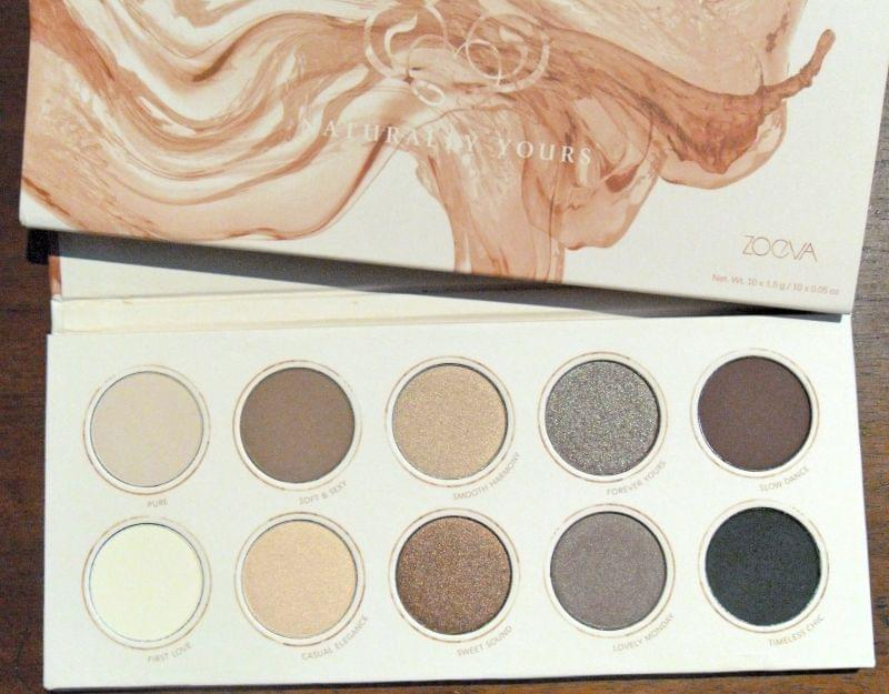 Swatch Naturally Yours Eyeshadow Palette, Zoeva