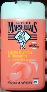 Swatch Gel douche extra doux, pêche blanche & nectarine, Le Petit Marseillais