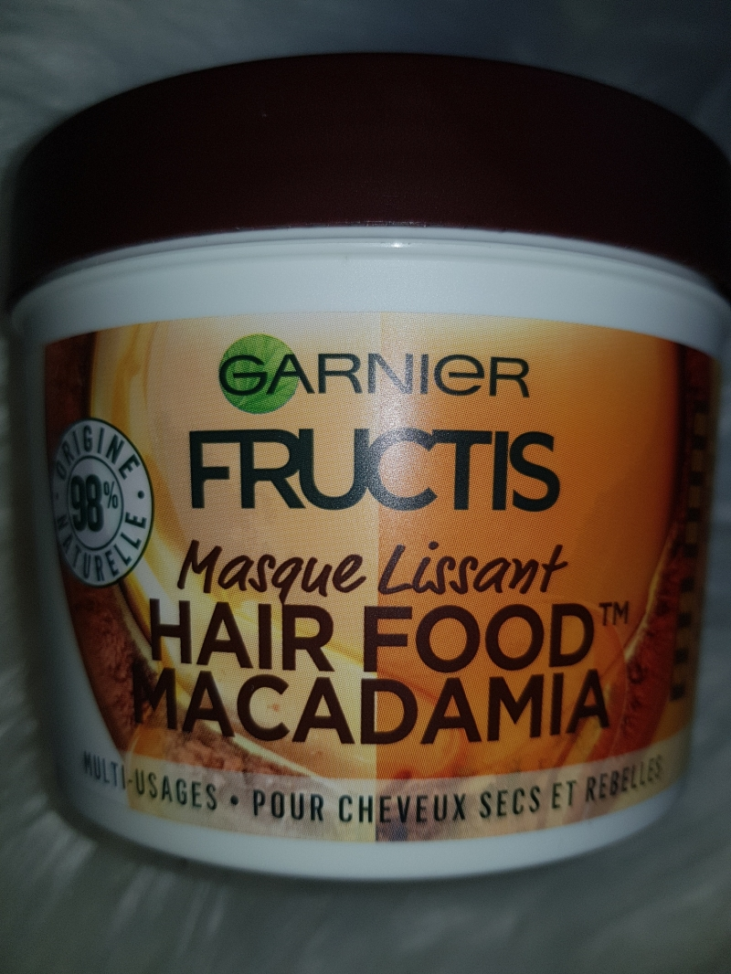 Swatch Hair food macadamia, Garnier Fructis