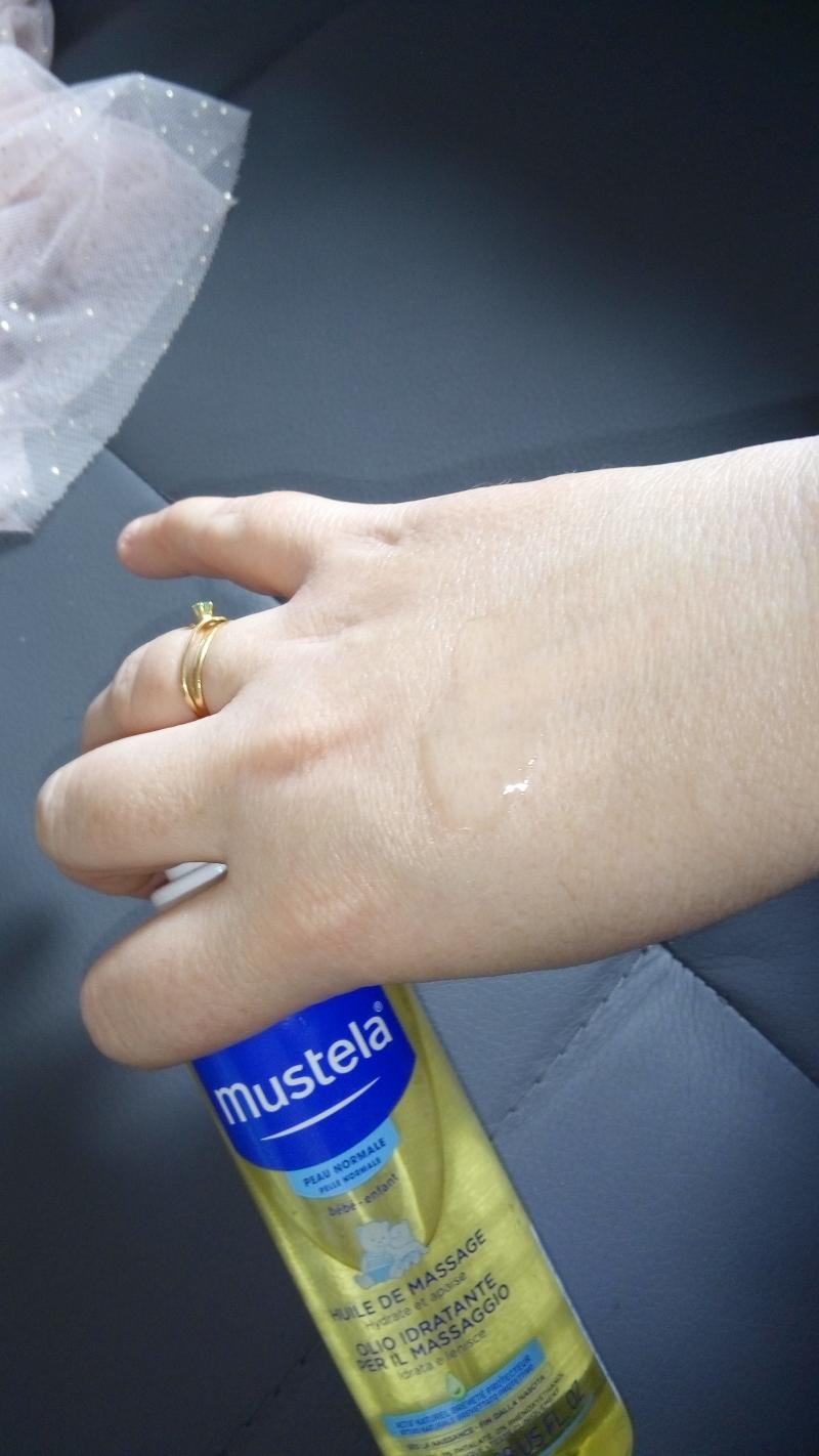 Swatch Huile de massage, Mustela