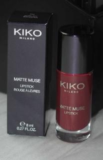 Swatch Matte Muse Lipstick 06, Kiko