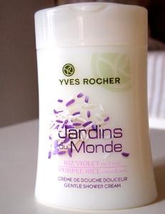 Swatch Crème de douche douceur Riz Violet du Laos - Les Jardins du Monde, YVES ROCHER
