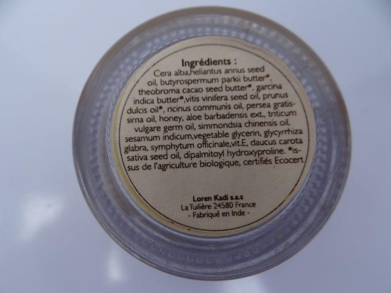 Swatch Baume à lèvres naturel ayurvédique Lèvres de Miel, Loren Kadi