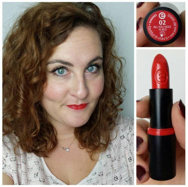 Swatch Longlasting Lipstick, Essence