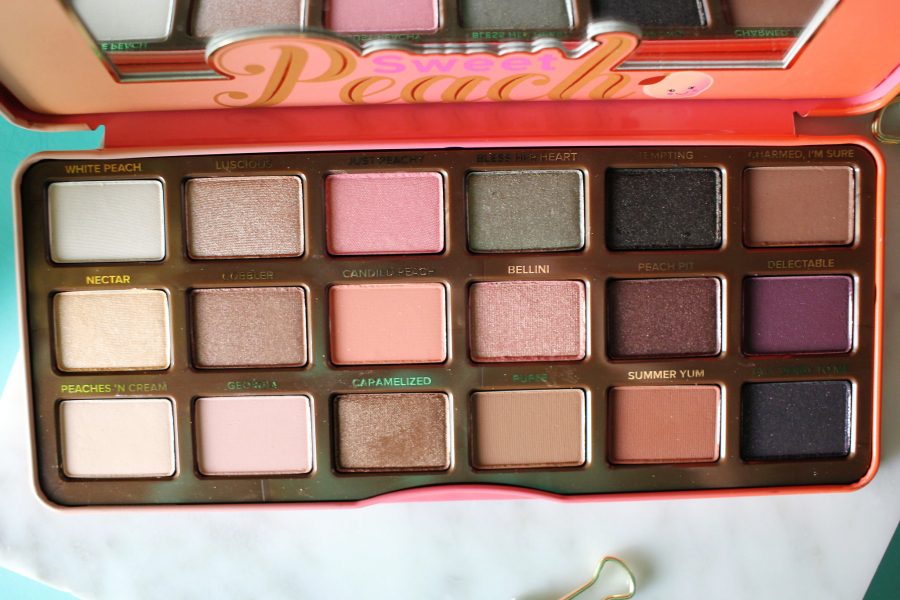 Swatch Sweet Peach Palette de fards à paupières, Too Faced