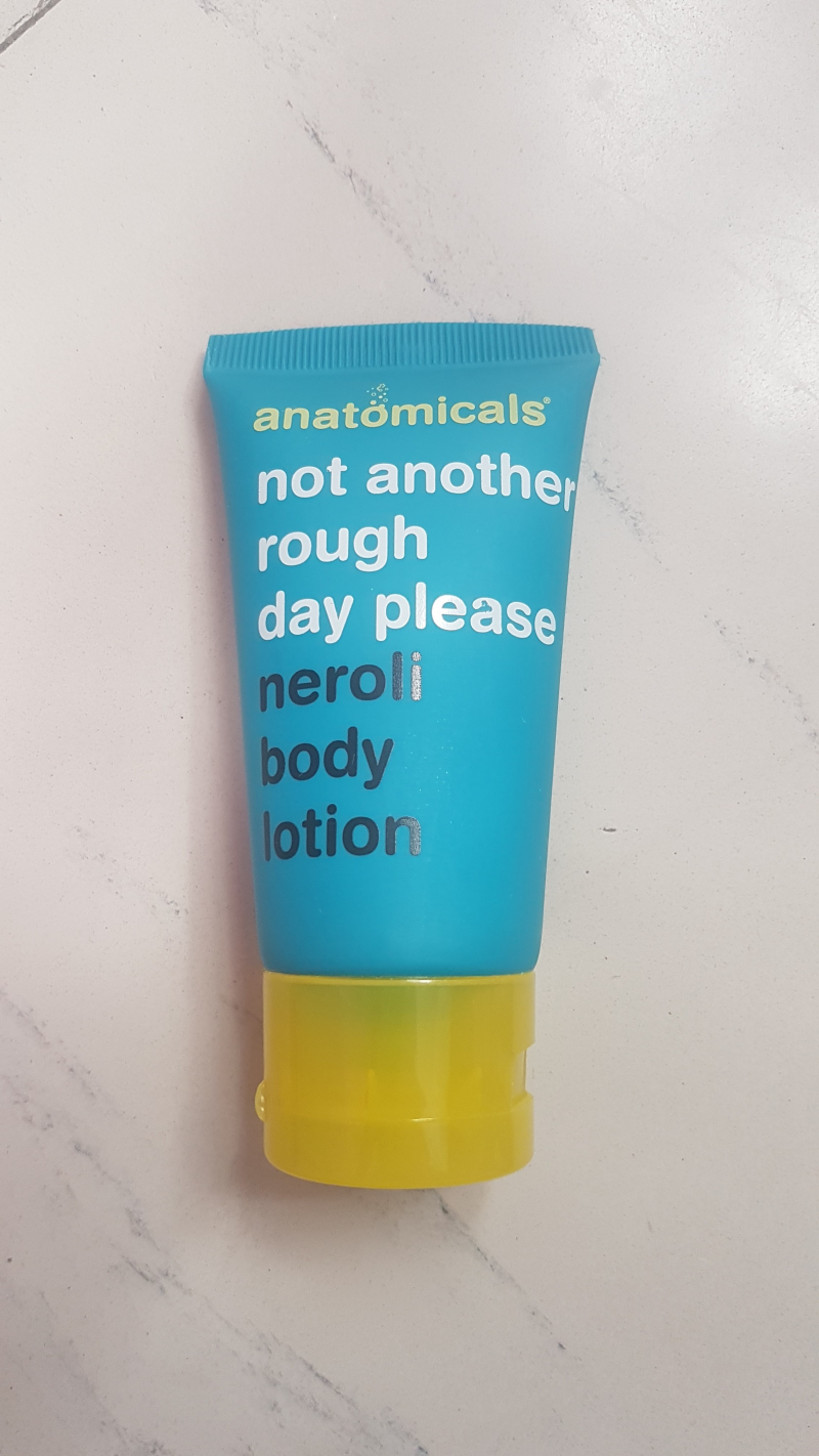 Swatch Neroli body lotion, Anatomicals