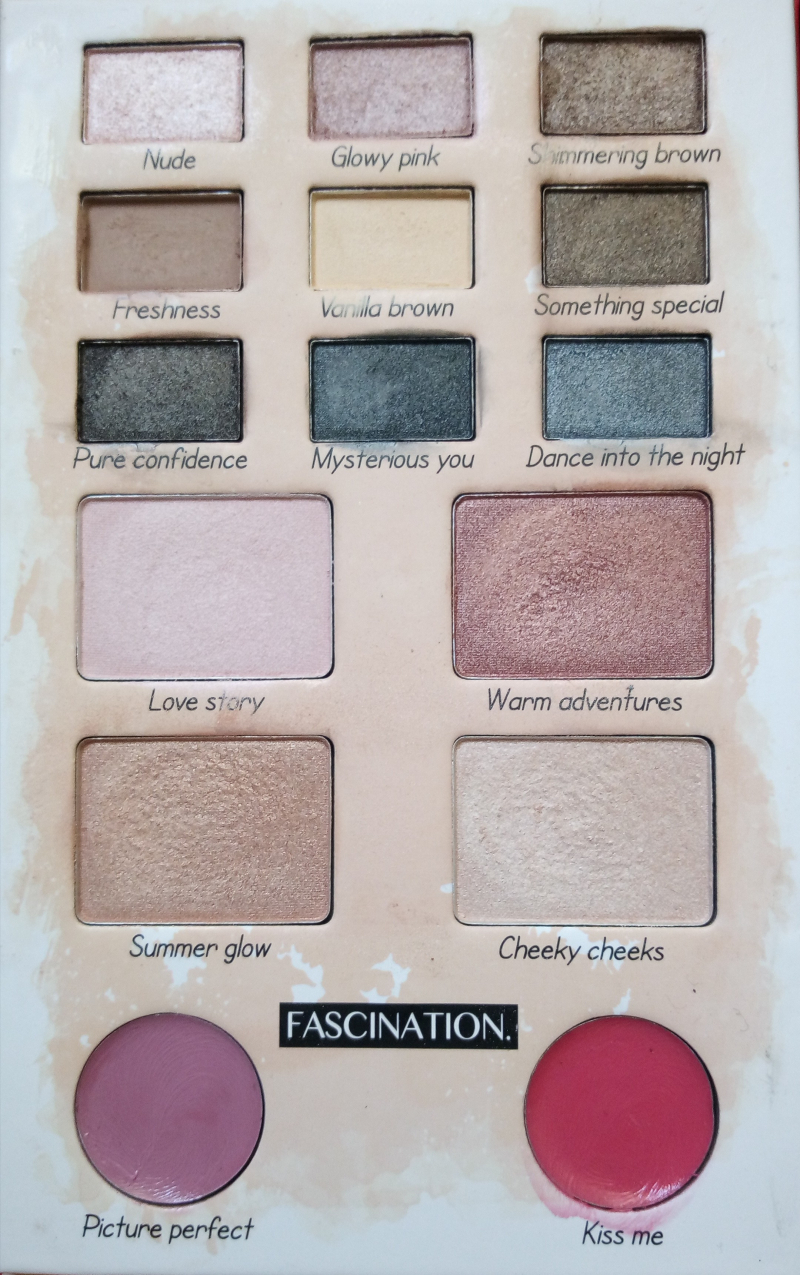Swatch Make-up palette Fascination, Action