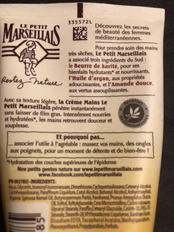 Swatch Crème Mains Nourrissante Peaux Très Sèches, Le Petit Marseillais