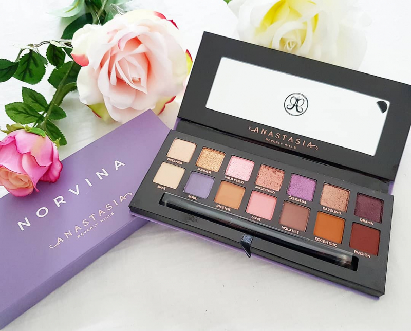 Swatch Norvina Eye Shadow Palette - Palette de fards à paupières, Anastasia Beverly Hills