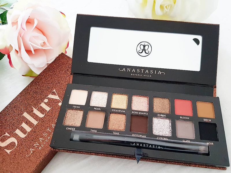 Swatch Sultry Eye Shadow Palette - Palette d'ombres à paupières, Anastasia Beverly Hills