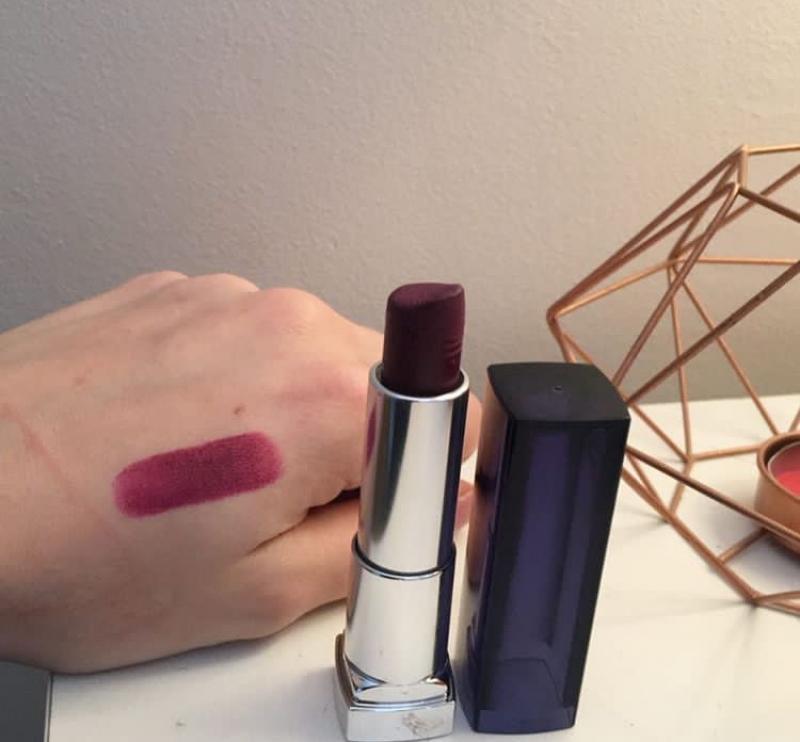 Swatch Rouge à Lèvres Mat Color Sensational Creamy Mattes, Gemey-Maybelline