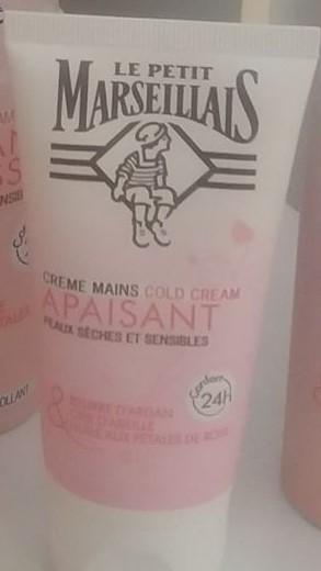 Swatch Crème mains cold cream, Le Petit Marseillais