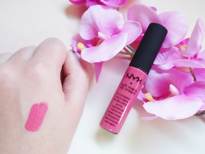 Swatch Soft matte lip cream, NYX