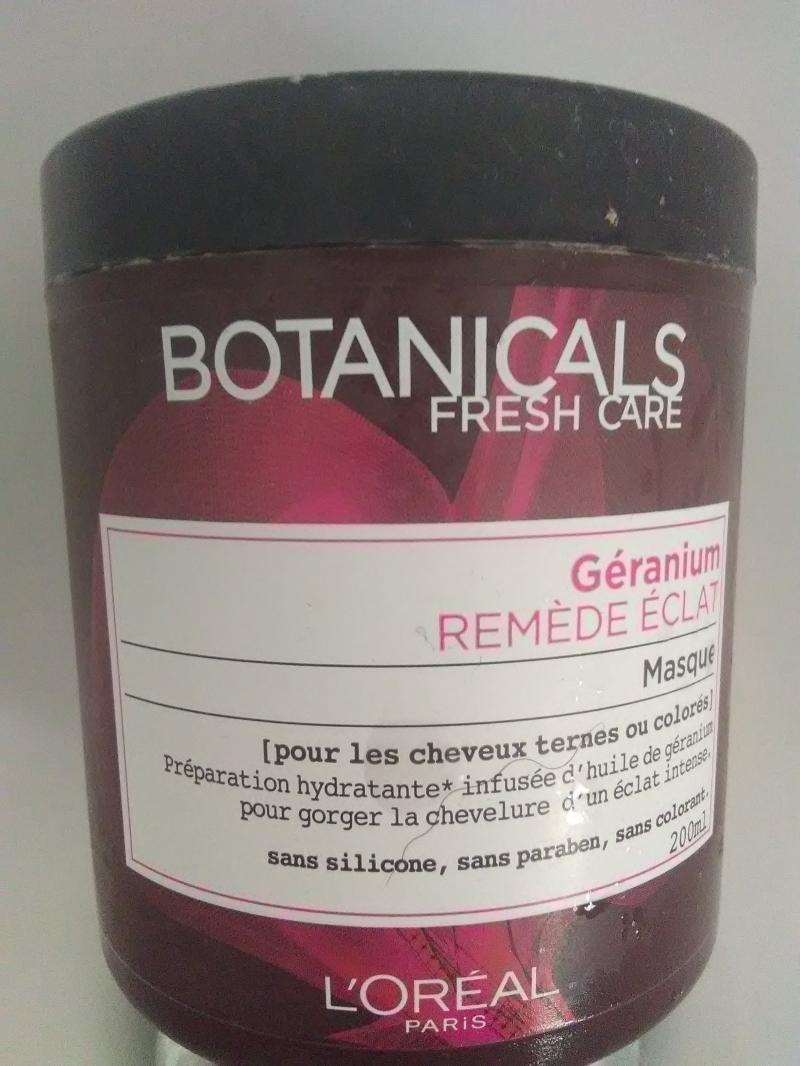 Swatch Masque Géranium Remède Eclat - Botanicals Fresh Care, L'Oréal Paris