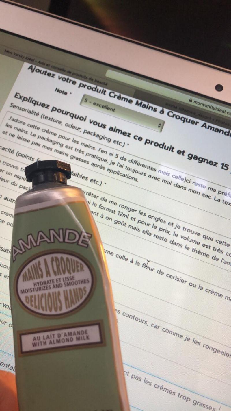 Swatch Crème Mains à Croquer Amande, L'Occitane