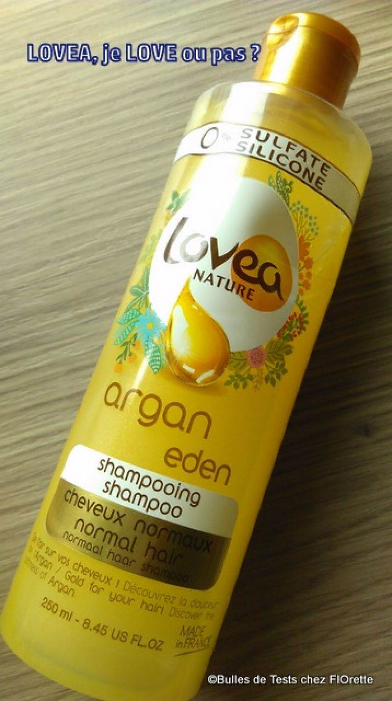 Swatch Shampoing Argan Eden Cheveux Normaux, Lovea Nature