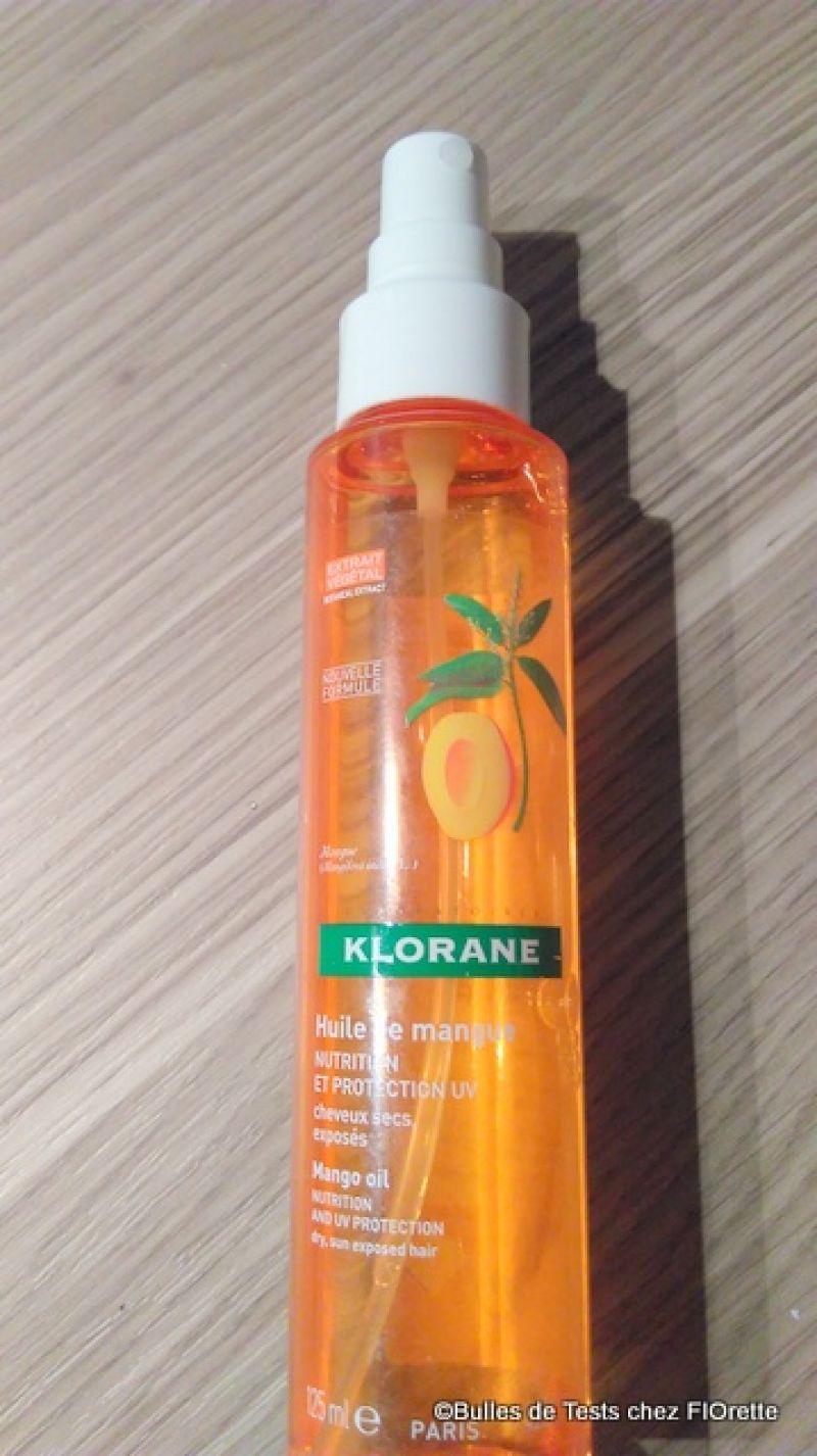 Swatch Cheveux Secs Huile De Mangue Sans Rinçage Nutrition Et Protection UV, Klorane