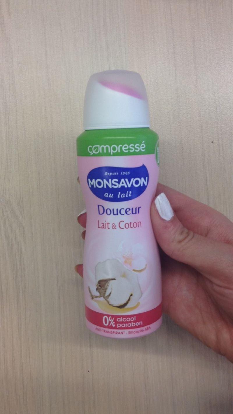 Swatch Déodorant Douceur lait grenade & fleur de jasmin - Compressé, Monsavon