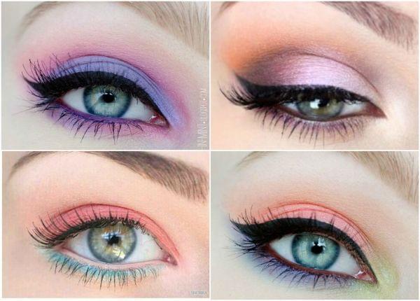 Un maquillage pastel pour le printemps - Maquillage mariage yeux vert ...