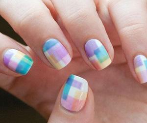 14 id es de nail art pour p ques for Tableau geometrique pastel