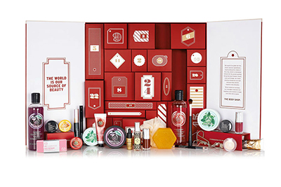 Le Calendrier de l'avent de the body shop